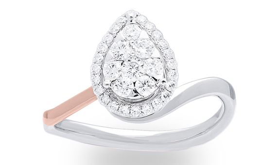PEARIE DIAMOND RING