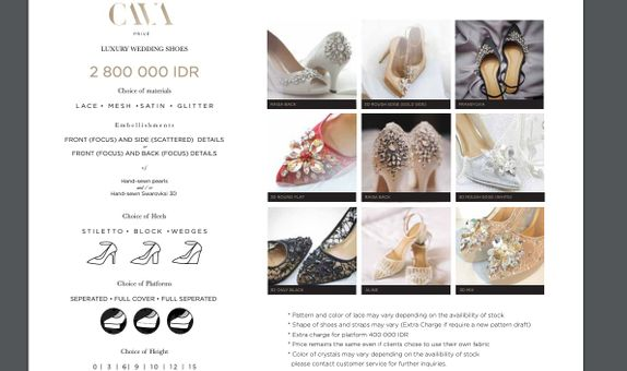 CAVA Privé - Luxury Category Wedding Shoes