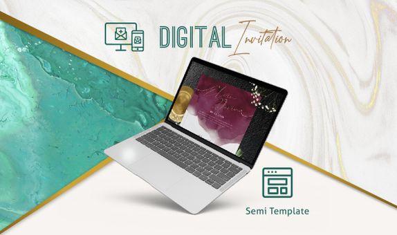 Semi Template Digital Invitation / Undangan Digital