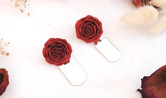 Gold Under The Rose Earrings