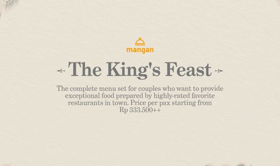 The King's Feast Wedding Package