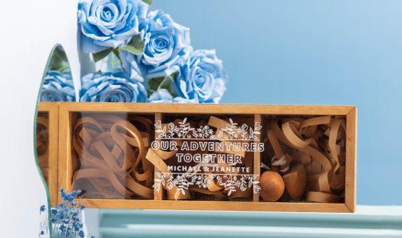 Engraved Wooden Box / Box Kayu Kado Pernikahan