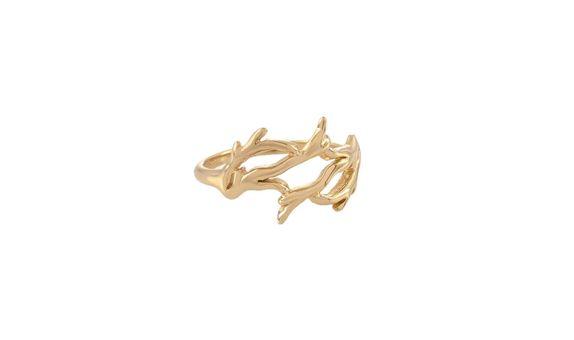 Akar Bend Ring Gold Dip