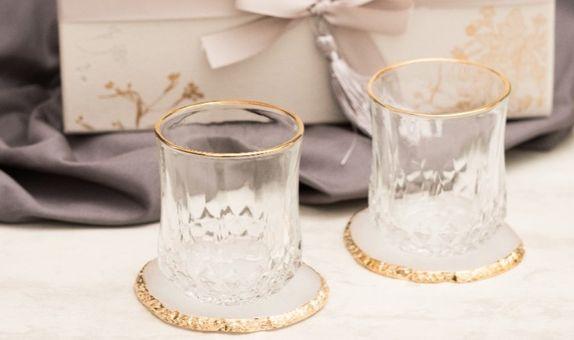 Scotch glass list gold