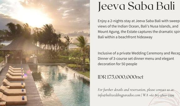 JEEVA SABA   WEDDING CEREMONY & RECEPTION - 50 GUETS