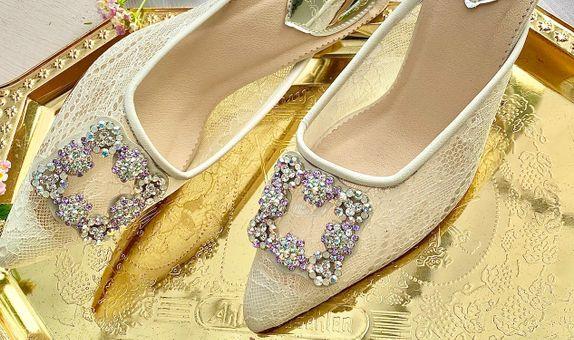 Noelle Ivory Wedding Shoes Women Stiletto Heels 7cm