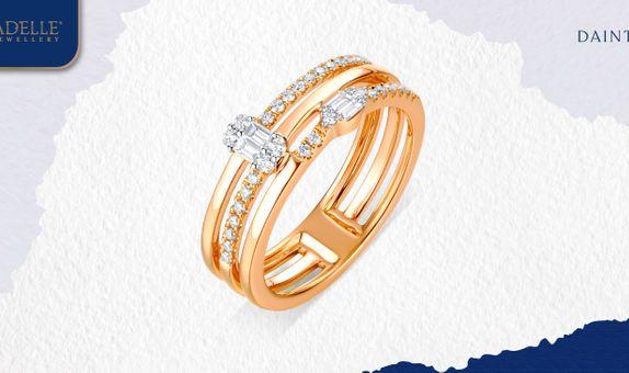 Cincin Berlian Adelle Jewellery - Livia Diamond Ring - Baguette