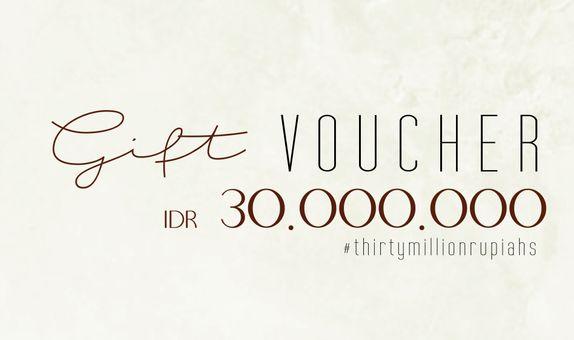 Voucher DP Decoration (Fisik) Rp. 30.000.000 Exp. 30 Desember 2021