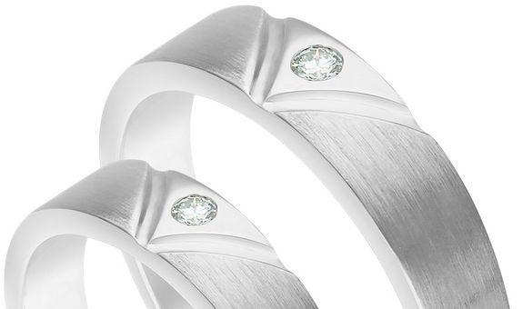 Diamond Wedding Rings CKS0104 Pairs