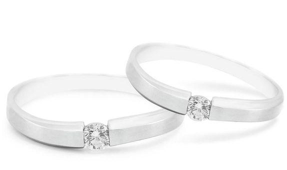 Cincin Nikah Cincin Kawin Emas Palladium WR0102 V&Co Jewellery