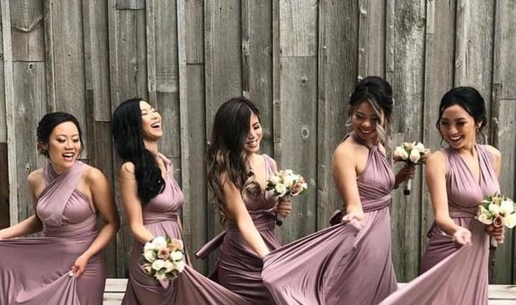 Upper East Bridesmaid - Luxury Infinity Convertible Dress