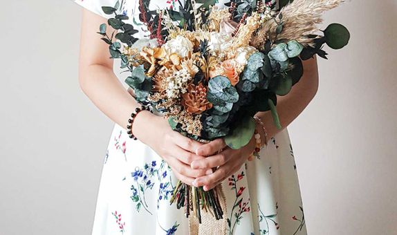 Bridal Bouquet Premium Dried & Preserved Flowers - Large Size