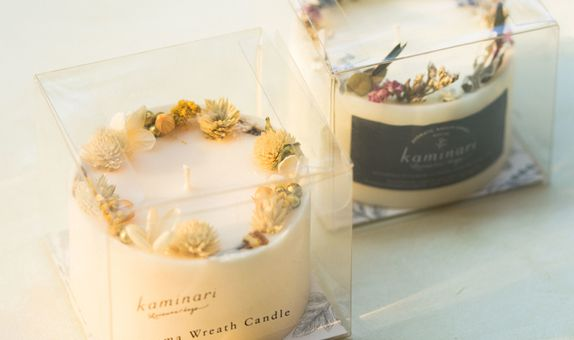 Wreath Candle (Custom)