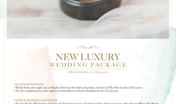 New Luxury Wedding Package 500 persons