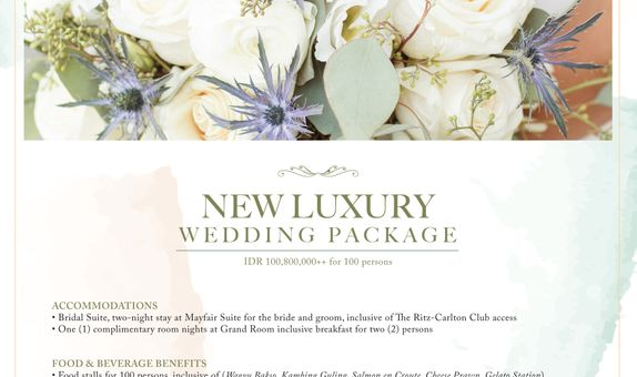 New Luxury Wedding Package - 100 pax