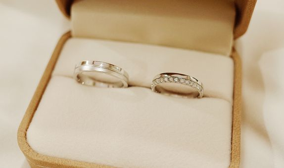 Deux Wedding Band Set