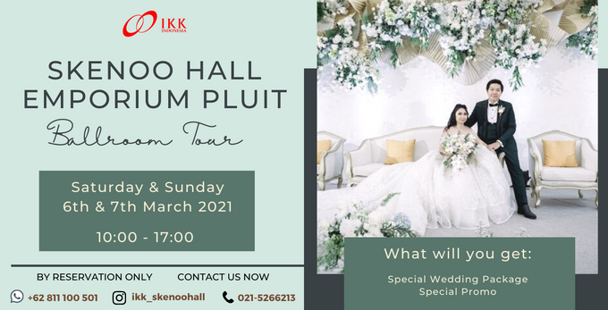 IKK Wedding Skenoo Hall Ballroom Tour, Get Special Offer On Your Visit!
