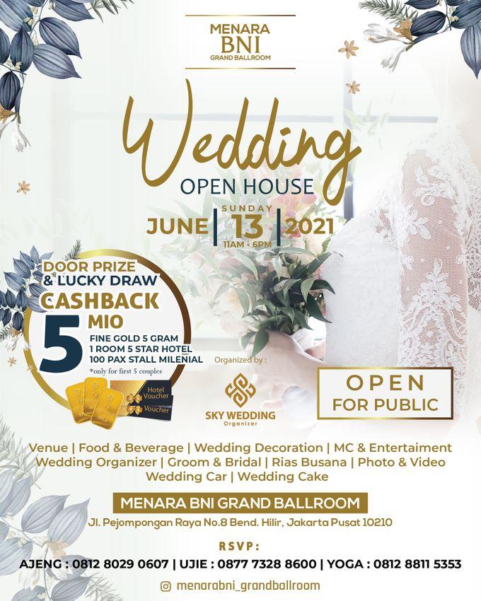Menara BNI Grand Ballroom by Sky Wedding Organizer Wedding Open House 2021