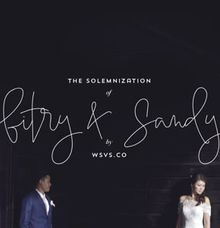 The Solemnization of Fitri & Sandy by WSVS