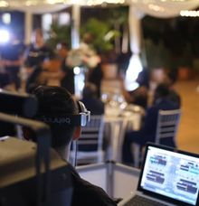 Wedding Reception in Secret Gardens by Miami DJz