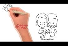 Wedding Invitation Video - Whiteboard Black and White by Pesan Video