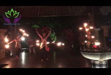 Fire dance percussion by kamala entertainment bali by Kamala entertainment centre