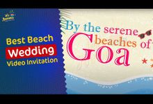 Beach Wedding Invite by Let's Announce Video Invitations
