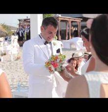 A beach wedding by Producciones Almendares