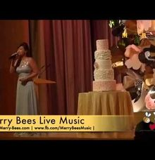 Emcee Sylvia hosts a Wedding Dinner at Ritz Carlton Millenia by Merry Bees Live Music