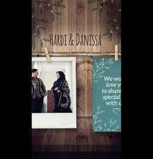 Undangan Video Hardi & Danissa Vertical by Sanone Project Digital / Electronic Invitation