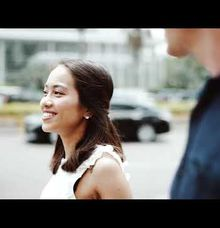 Prewedding of Val at MRT Jakarta Indonesia by Warna Project