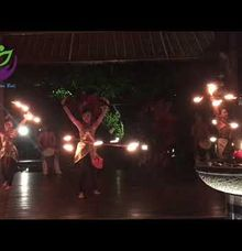 Fire dance percussion by kamala entertainment bali by Kamala entertainment centre