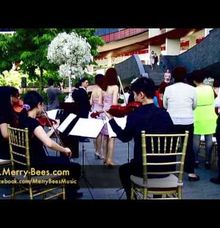 String Quartet at Wedding Solemnisation in Capella Sentosa by Merry Bees Live Music