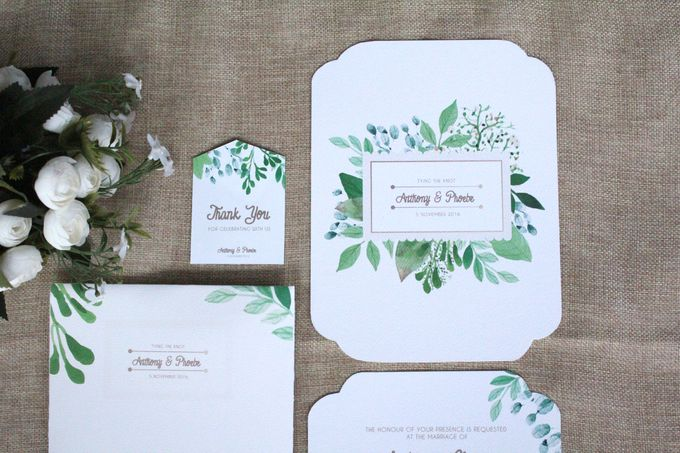 Watercolor Nature Theme by Mille Paperie Bridestorycom