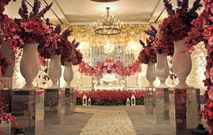 Peach wedding decoration by four points by sheraton bandung red white wedding decoration junglespirit Gallery