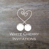 White Cherry Invitations