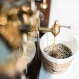 Brass Fox Coffee Cart