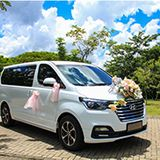 WHITE GOLD wedding car