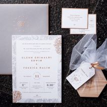 Directory of wedding invitations vendors in jakarta bridestory tapestry invitation stopboris Images