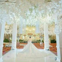 Directory of wedding decoration lighting vendors in jakarta white pearl decoration junglespirit