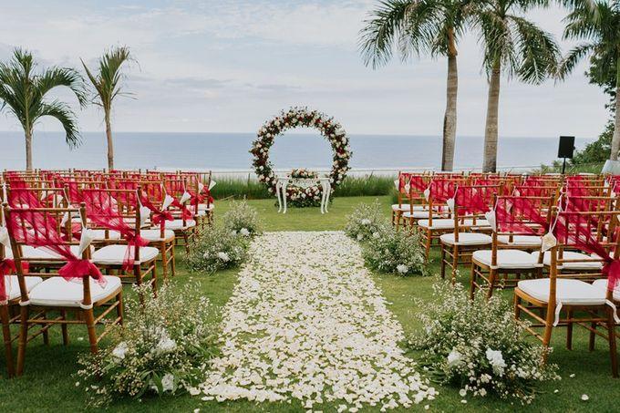 Burgundy & Navy Blue Wedding Decoration by Bali Izatta Wedding Planner & Wedding Florist Decorator - 001