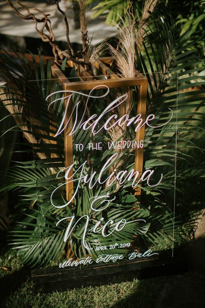 Cliff Wedding Dinner by Bali Izatta Wedding Planner & Wedding Florist Decorator - 005