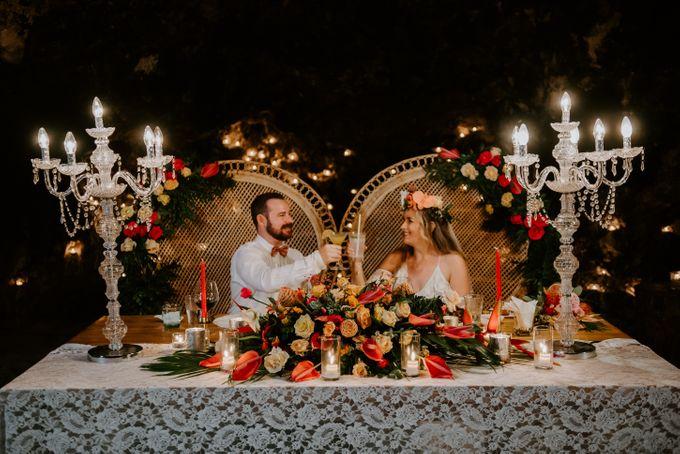 Tropical-themed wedding with Boho inspirations by Amora Bali Weddings - 046