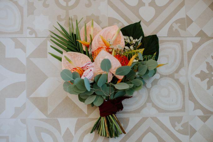 Tropical-themed wedding with Boho inspirations by Amora Bali Weddings - 001