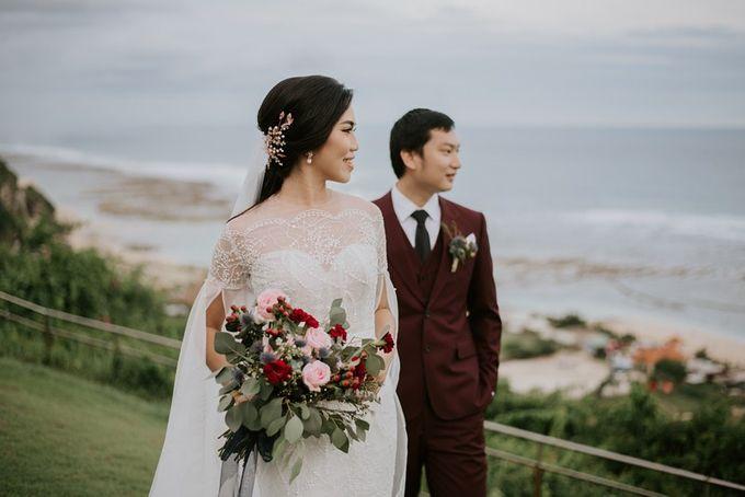 Burgundy & Navy Blue Wedding Decoration by Bali Izatta Wedding Planner & Wedding Florist Decorator - 007
