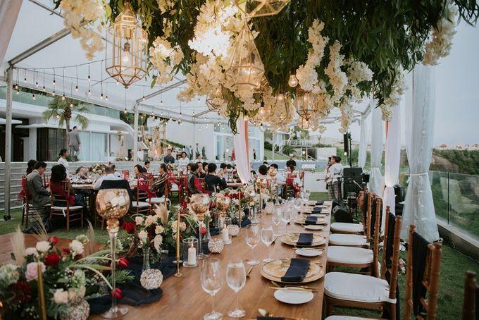 Burgundy & Navy Blue Wedding Decoration by Latitude Bali - 008