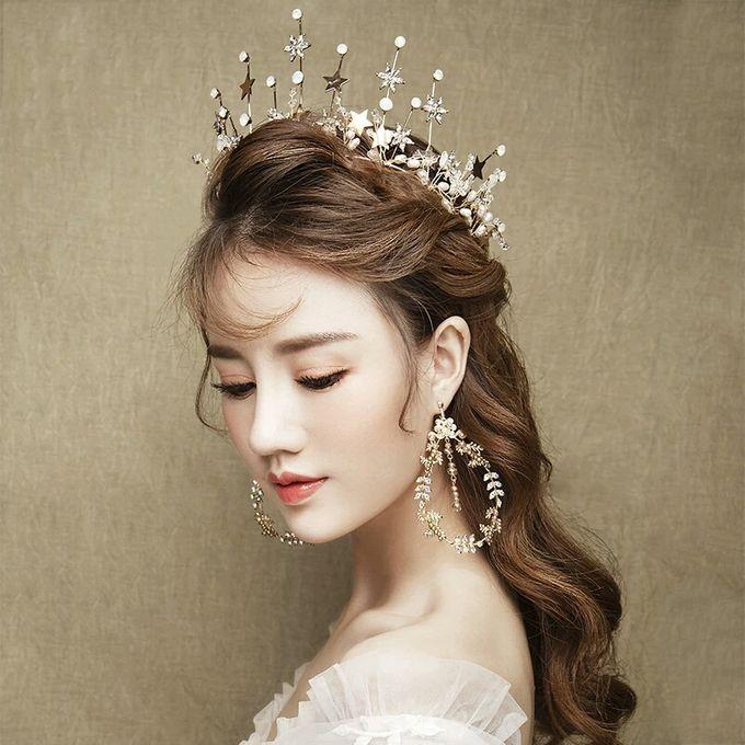 Regatta Wedding Crown Headpiece, with earrings by Fairytale Undercover - 004