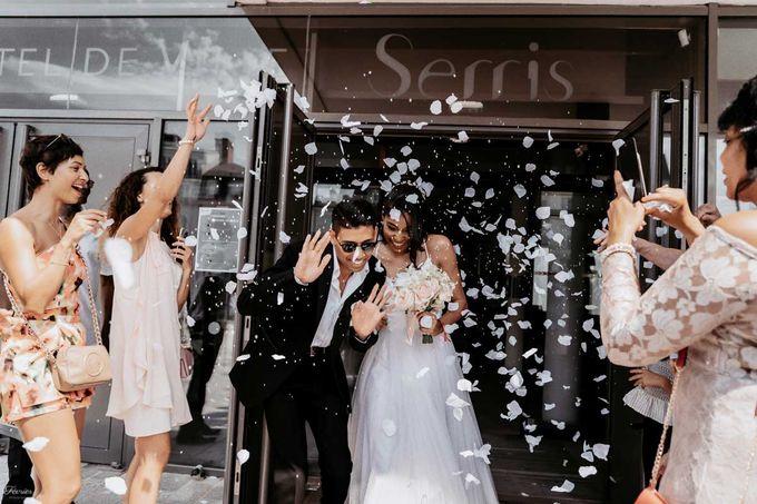 Beautiful Wedding In France - Fevrier Photography by Février Photography | Paris Photographer - 001