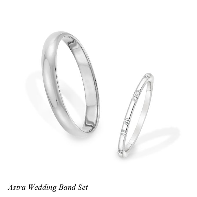 DIAMOND WEDDING BAND SET by Mirage Jeweler - 007