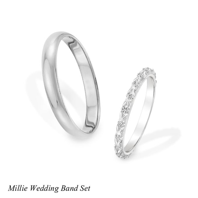 DIAMOND WEDDING BAND SET by Mirage Jeweler - 001